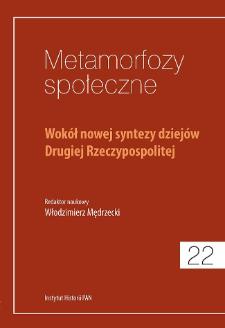 Wokół nowej syntezy dziejów Drugiej Rzeczypospolitej