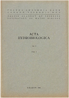 Acta Hydrobiologica Vol. 6 Fasc. 4 (1964)