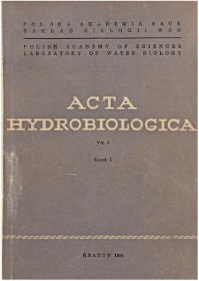 Acta Hydrobiologica Vol. 8 (1966) Suppl. 1