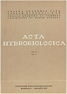 Acta Hydrobiologica Vol. 15 Fasc. 4 (1973)