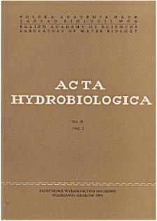 Acta Hydrobiologica Vol. 21 Fasc. 2 (1979)