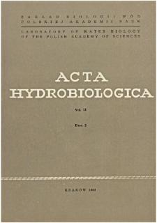 Acta Hydrobiologica Vol. 11 Fasc. 2 (1969)