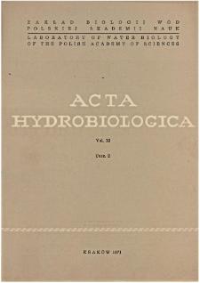 Acta Hydrobiologica Vol. 13 Fasc. 2 (1971)