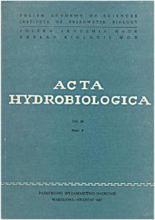 Acta Hydrobiologica Vol. 29 Fasc. 2 (1987)