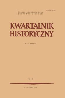 Kwartalnik Historyczny R. 87 nr 2 (1980), Artykuły recenzyjne