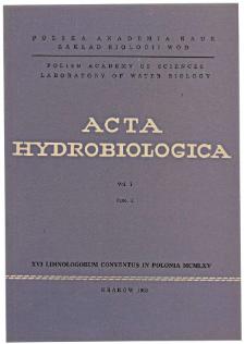 Acta Hydrobiologica Vol. 7 Fasc. 1 (1965)