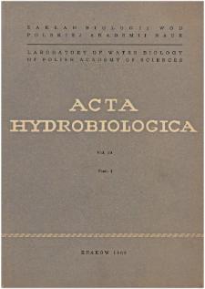 Acta Hydrobiologica Vol. 10 Fasc. 4 (1968)