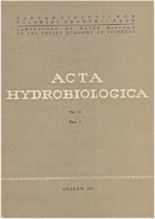 Acta Hydrobiologica Vol. 13 Fasc. 1 (1971)