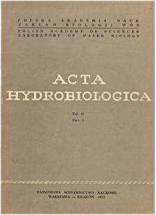 Acta Hydrobiologica Vol. 15 Fasc. 1 (1973)