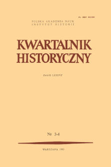 Kwartalnik Historyczny R. 87 nr 3-4 (1980)