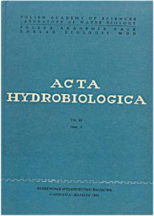 Acta Hydrobiologica Vol. 23 Fasc. 1 (1981)