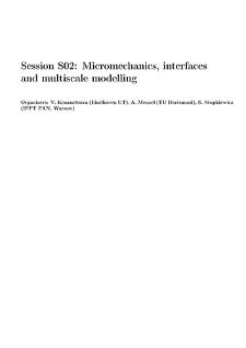 Session S02: Micromechanics, interfacesand multiscale modelling