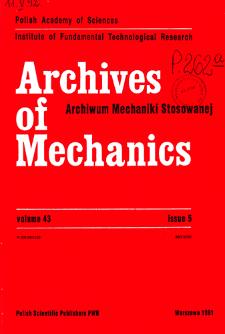 Archives of Mechanics Vol. 43 nr 5 (1991)