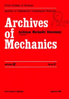 Archives of Mechanics Vol. 42 nr 3 (1990)