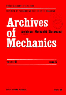 Archives of Mechanics Vol. 41 nr 6 (1989)
