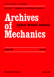 Archives of Mechanics Vol. 41 nr 5 (1989)