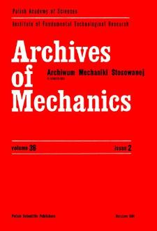 Archives of Mechanics Vol. 36 nr 2 (1984)