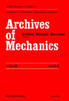 Archives of Mechanics Vol. 35 nr 5-6 (1983)