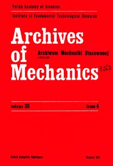Archives of Mechanics Vol. 35 nr 4 (1983)
