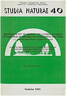 Studia Naturae No. 40 (1993)