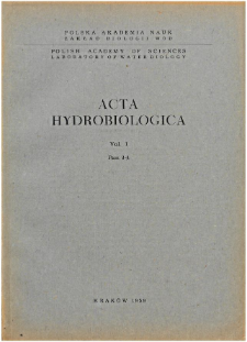 Acta Hydrobiologica Vol. 1 Fasc. 3-4 (1959)