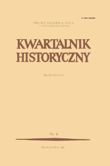 Kwartalnik Historyczny R. 88 nr 4 (1981)