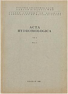 Acta Hydrobiologica Vol. 4 Fasc. 2 (1962)