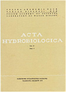 Acta Hydrobiologica Vol. 17 Fasc. 3 (1975)