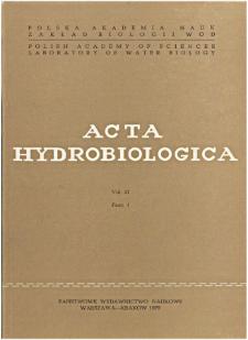 Acta Hydrobiologica Vol. 21 Fasc. 1 (1979)