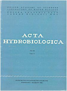 Acta Hydrobiologica Vol. 24 Fasc. 2 (1982)