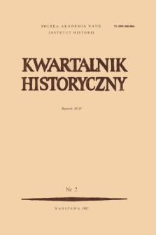 Kwartalnik Historyczny R. 93 nr 2 (1986), Artykuły recenzyjne