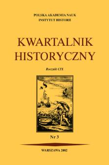 Kwartalnik Historyczny R. 109 nr 3 (2002), Artykuły recenzyjne