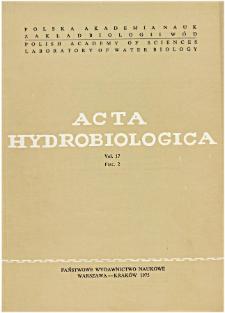 Acta Hydrobiologica Vol. 17 Fasc. 2 (1975)