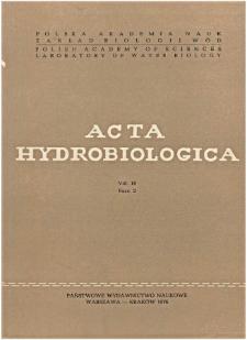 Acta Hydrobiologica Vol. 18 Fasc. 2 (1976)