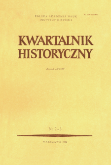 Kwartalnik Historyczny R. 89 nr 2/3 (1982), Title pages, Contens