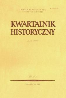 Kwartalnik Historyczny R. 89 nr 2/3 (1982), Artykuły recenzyjne