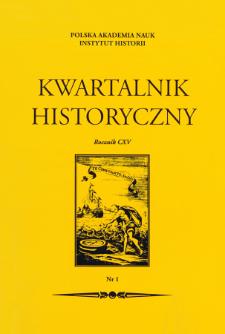Kwartalnik Historyczny R. 115 nr 1 (2008)