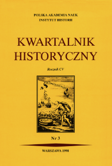 Kwartalnik Historyczny R. 105 nr 3 (1998)