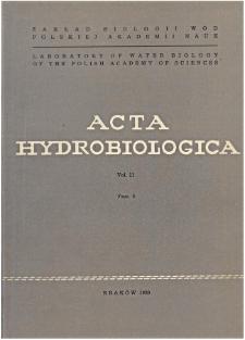 Acta Hydrobiologica Vol. 11 Fasc. 3 (1969)