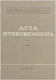 Acta Hydrobiologica Vol. 11 Fasc. 4 (1969)
