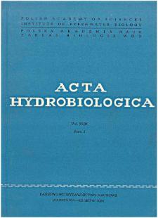 Acta Hydrobiologica Vol. 25/26 Fasc. 1 (1983/1984)