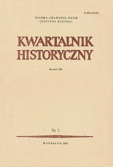 Kwartalnik Historyczny R. 90 nr 2 (1983), Artykuły recenzyjne