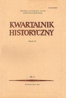 Kwartalnik Historyczny R. 90 nr 3 (1983), Artykuły recenzyjne