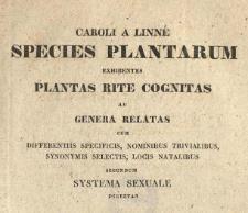 Caroli A Linné Species Plantarum