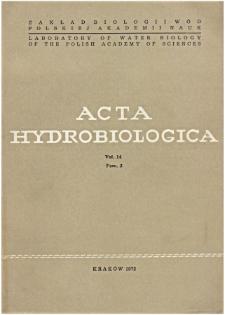 Acta Hydrobiologica Vol. 14 Fasc. 2 (1972)