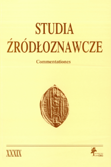 Studia Źródłoznawcze = Commentationes T. 39 (2001), Dyskusje