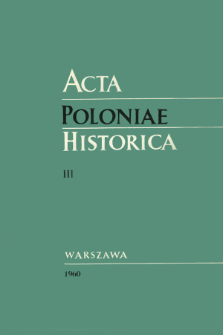 Acta Poloniae Historica T. 3 (1960), Rapports