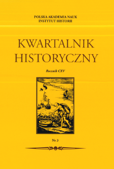 Kwartalnik Historyczny R. 115 nr 3 (2008), Artykuły recenzyjne