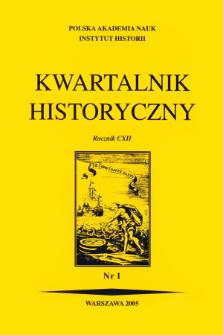 Kwartalnik Historyczny R. 112 nr 1 (2005), Artykuły recenzyjne