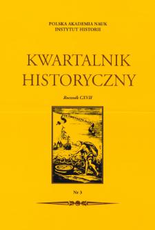 Kwartalnik Historyczny R. 117 nr 3 (2010)